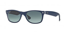 Ray-Ban RB 2132 NEW WAYFARER 605371 TOP MATTE BLUE ON TRASPARENT grey gradient