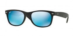 Ray-Ban RB 2132 NEW WAYFARER 622/17 RUBBER BLACK grey mirror blue