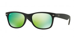Ray-Ban RB 2132 NEW WAYFARER 622/19 RUBBER BLACK grey mirror green