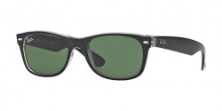 Ray-Ban RB 2132 NEW WAYFARER 6052  TOP BLACK ON TRANSPARENT, green