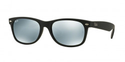 Ray-Ban RB 2132 NEW WAYFARER 622/30  RUBBER BLACK,  green mirror silver