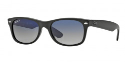 Ray-Ban RB 2132 NEW WAYFARER 601S78  MATTE BLACK  polar blue grad. grey