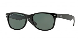Ray-Ban RB 2132 NEW WAYFARER 901/58 BLACK crystal green polarized