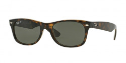 Ray-Ban RB 2132 NEW WAYFARER 902/58  TORTOISE crystal green polarized