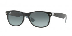 Ray-Ban RB 2132 NEW WAYFARER 630971  MATTE BLACK ON OPAL ICE grey gradient dark grey