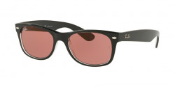 Ray-Ban RB 2132 NEW WAYFARER 6398U0  BLACK/TRASPARENT violet photo mir gold