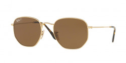 Ray-Ban RB 3548 N HEXAGONAL 001/57  GOLD polar brown