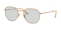 Ray-Ban RB 3548 N HEXAGONAL 91310Y  COPPER evolve light blue