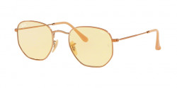 Ray-Ban RB 3548 N HEXAGONAL 91310Z  COPPER evolve light yellow