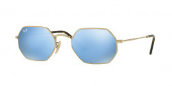Ray-Ban RB 3556 N OCTAGONAL 001/9O  GOLD  light blue flash