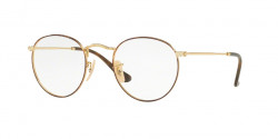 Ray-Ban RB 3447 V ROUND METAL 2945  GOLD ON TOP HAVANA