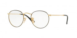 Ray-Ban RB 3447 V ROUND METAL 2991  GOLD ON TOP BLACK