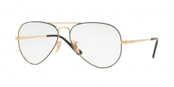 Ray-Ban RB 6489 AVIATOR 2946  GOLD ON TOP BLACK
