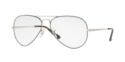 Ray-Ban RB 6489 AVIATOR 2970  SILVER ON TOP BLUE