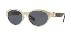 Versace VE 2179 133987  BRUSHED PALE GOLD grey