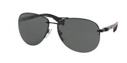 Prada PS 56 MS 1BO1A1  BLACK DEMI SHINY gray