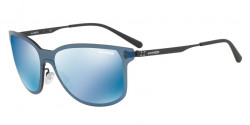 Arnette AN 3074 HUNDO-P2 528/55  MATTE BLACK dark blue mirror blue