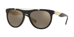 Versace VE 4347 GB1/5A  BLACK light brown mirror gold