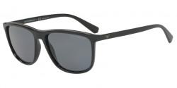 Emporio Armani EA 4109 50426G  MATTE BLACK light grey mirror black
