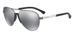 Emporio Armani EA 2059 30106G  MATTE GUNMETAL  light grey mirror black