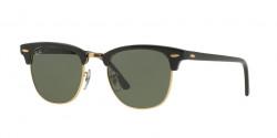 Ray-Ban RB 3016 CLUBMASTER  W0365 EBONY/ ARISTA green