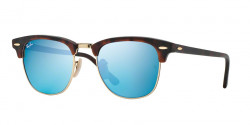 Ray-Ban RB 3016 CLUBMASTER  114517 SAND HAVANA/GOLD grey mirror blue