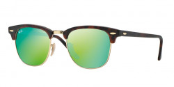 Ray-Ban RB 3016 CLUBMASTER  114519 SAND HAVANA/GOLD grey mirror green