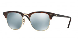 Ray-Ban RB 3016 CLUBMASTER  114530 SAND HAVANA/GOLD  light green mirror silver