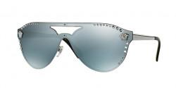 Versace VE 2161 10011U  GUNMETAL blue mirror silver 80