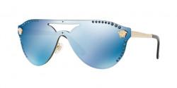 Versace VE 2161 B 125255  PALE GOLD dark blue mirror blue