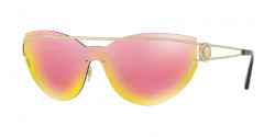 Versace VE 2186 12524Z  PALE GOLD grey mirror yellow rose