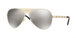 Versace VE 2189 13396G  BRUSHED PALE GOLD light grey mirror silver