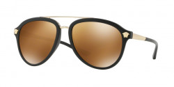 Versace VE 4341 51226H  MATTE BLACK brown mirror gold