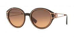 Versace VE 4342 509318  TRANSPARENT BROWN/PINK GOLD orange gradient light grey