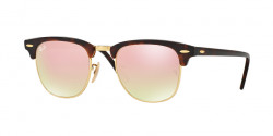 Ray-Ban RB 3016 CLUBMASTER  990/7O  SHINY RED/HAVANA   copper flash gradient