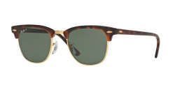 Ray-Ban RB 3016 CLUBMASTER  990/58  RED HAVANA crystal green polarized