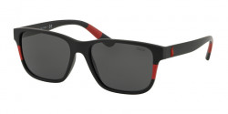 Polo Ralph Lauren PH 4137 528487  MATTE BLACK/RED grey