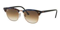 Ray-Ban RB 3016 CLUBMASTER  125651  SPOTTED BROWN/BLUE clear gradient brown
