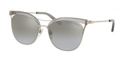 Ralph Lauren RL 7061 93556V  TRANSP GREY/SANDED SILVER light grey mirror grad silver