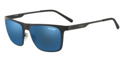 Arnette AN 3076 BACK SIDE 501/55  MATTE BLACK blue mirror blue