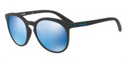 Arnette AN 4241 CHENGA R 01/55  MATTE BLACK blue mirror blue