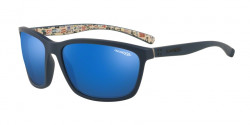 Arnette AN 4249 HAND UP 255155  BLUE RUBBER  blue mirror blue