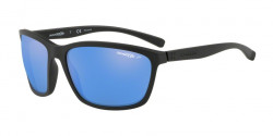Arnette AN 4249 HAND UP 01/22  MATTE BLACK polar mirror blue